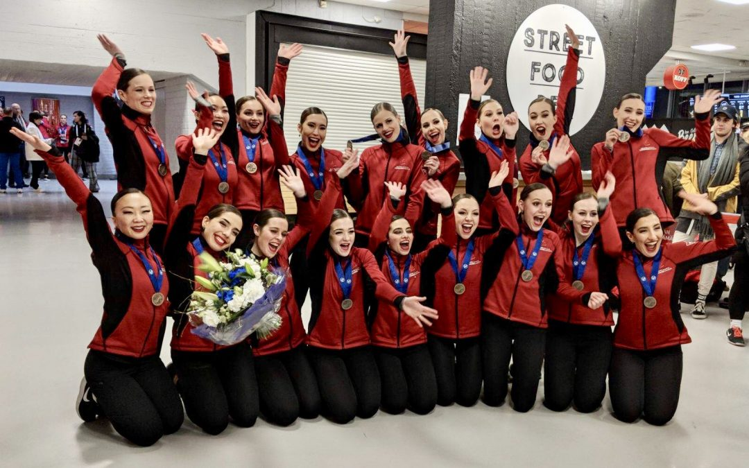 NEXXICE Senior places 4th at  the 2019 World Synchronized Skating Championships in Helsinki Finland.