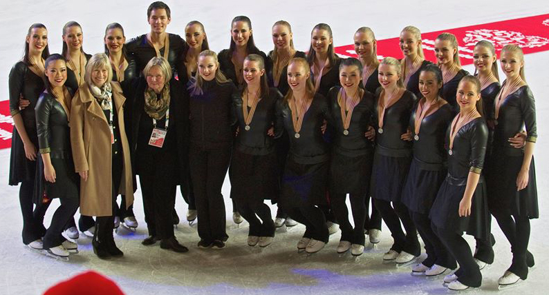 Silver Medal win at the World Synchronized Skating Championships in Courmayeur, Italy